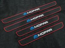 4PCS MOPAR Black Rubber Car Door Scuff Sill Cover Panel Step Protector Universal