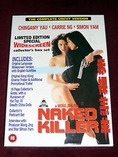 NAKED KILLER complete uncut VHS Box + Postkarten und Booklet Wong Jing Carrie Ng