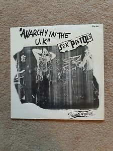 "Sex Pistols Anarchy In The UK 12"" Banned French Pressing"