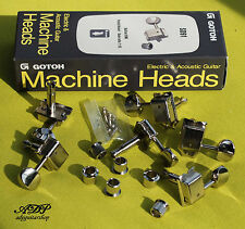 GOTOH VINTAGE LEFTY TUNERS SD91-SL 05M Machine Heads 6in Line NICKEL LEFT HANDED