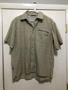 Simms COR3 Vented Fishing Shirt Button Up Plaid Mens Size Medium
