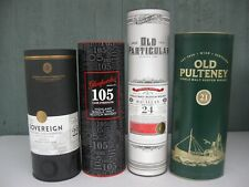 4 Single Malt Scotch Canisters: Sovereign Glenfarclas Old Particular Pulteney
