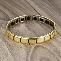 Couple Germanium Titanium Steel Elastic Bracelet Stretch Bracelet Bangle For CQ