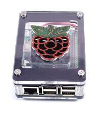 Zebra Black Ice Raspberry Inlay CASE WITH FAN~ for Raspberry Pi3B+ 3, Pi2 C4Labs