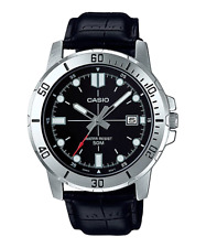 Reloj Analogico CASIO MTP-VD01L-1E - Correa De Cuero - Dia Del Mes - 50 BAR