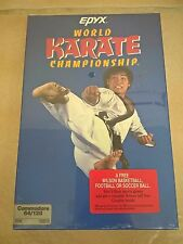 World Karate Championship For Commodore 64/128, NEW FACTORY SEALED, Epyx