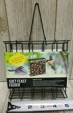 Suet Feast Bird Feeder Black Metal Square NEW - B150