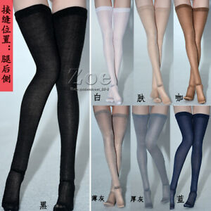 1/6 Female Socks High stockings Clothes fit 12'' Phicen JIAOU Figure Toy