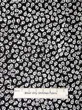 "Tonga Batik Halloween Skull Cotton Fabric Timeless Treasures #B2677 Black 24"""