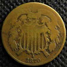 1870 Two cent piece. Rare semi-key date!