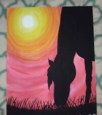 New ListingHorse Sunset Acrylic Painting Canvas