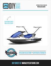 KAWASAKI STX DI 900 1100 12F 15F BLUE & GRAY Seat Skin Cover 00 01 02 06 07+ ^
