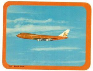 C.1971 Braniff Place 747 Oversized Postcard
