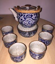 Teeset Becher Stövchen Kanne