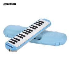 SUZUKI 32-Key Melodion Melodica Pianica with Long & Short Mouthpiece Blue B2F2