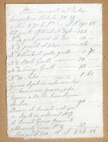 Antico documento manoscritto XVI XVII Secolo - Stime convenute col fattore