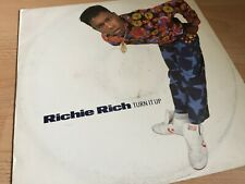 "RICHIE RICH - TURN IT UP - HOUSE - 12"" VINYL RECORD DJ"