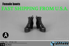 """1/6 Female Wedge Boots High Heels A For 12"""" Hot Toys Phicen Female Figure ❶USA❶"""