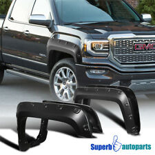 16-18 GMC Sierra 1500 4PC Smooth Paintable Pocket Rivet Style Fender Flares