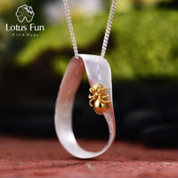 Unique 18k Gold Ant Pendant for Women Solid 925 Sterling Silver Fine Jewelry