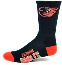 Baltimore Orioles Adult Black & Orange Team Logo Deuce Crew Socks