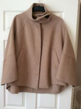 Zara Women Wool Coat, Beige Color, Size L, Bnwot