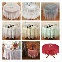 Round Table Cloth Cover Topper Vintage Floral Lace Tablecloth Wedding Party 70""