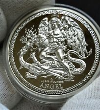 2017 Isle of Man 2 oz High Relief Silver Angel Proof in original box