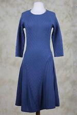 Cacharel Womens Dress Size M Blue Sweater Wool Knit Below Knee