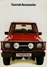Daihatsu Fourtrak Accessories 1984-85 UK Market Foldout Sales Brochure
