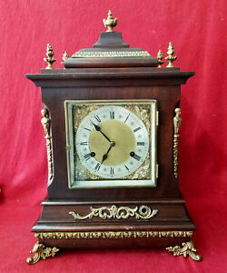 1890 New Haven 'Wilcox' Canadian Quarter Chiming Double Movement Bracket Clock