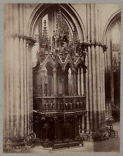 France église Art gothique Vintage albumine ca 1880