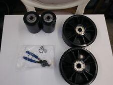 Black Nylon wheel and roller kit for pallet Jack