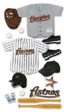 Licensed MLB Houston ASTROS Scrapbook 3D Uniform Stickers Jolee's EK Success