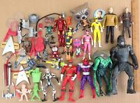 Big action figure lot vinyl plastic super hero Star Wars movie accessories mini