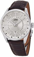 Oris Men's Artix Brown Leather Strap Moon Phase Automatic Watch 76176914051LS