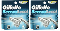 NEW Gillette Sensor Excel Refill Razor Blades - 5 Cartridges (2 Pack)