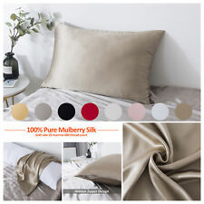 Mulberry Silk Pillowcase for Hair and Skin Pillow Case Cover with Hidden Closure