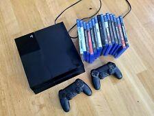 Sony PlayStation 4 500GB Konsole mit 15 Spielen und 2 Controllern