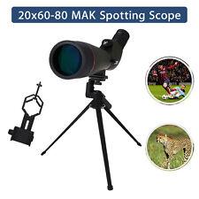 LOOKU 20-60x80 Spotting Scope Telescope Zoom Bak4 Precision MAK For Hunting