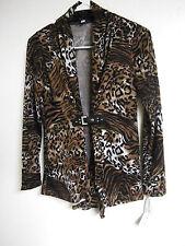 ANNALEE HOPE Womens SIZE S Animal print JACKET TOP COAT Career Wear