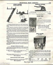 1941 ADVERT Monarch Butcher Block Table Meat Block Dovetail Joint