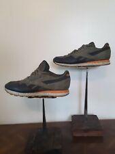 Reebok Classic Shoes Lows Blue Suede Leather Orange Brown Gum Men's Size 9