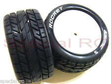 Louise RC 1/10 Buggy Tire Rocket Rear Soft + black insert #L-T3188SI