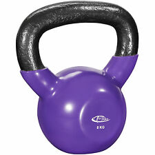 Pesa rusa 8 kg Kettlebell ejercicio gimnasio entreno peso redondo vinilo hierro