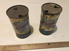 2 VINTAGE ANTIQUE TIN HAMM'S FLAT TOP BEER CAN PREFERRED 12 SMOOTH MELLOW EMPTY