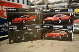 1:64 TOMICA PREMIUM - Ferrari 365 GTS4 / F40 / 512BB / Testarossa Diecast Metal