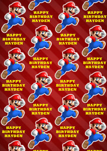 SUPER MARIO Personalised Gift Wrap - Super Mario Nintendo Wrapping Paper