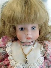"Goebel Carol Anne 9.5"" Porcelain Doll By Bette Ball w Jewlery & Clothing 1992"