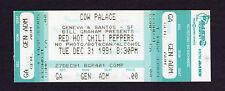 Original 1991 Red Hot Chili Pepper Nirvana Pearl Jam Unused Full Concert Ticket